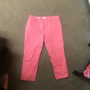 LOFT Cropped Pants - Peach